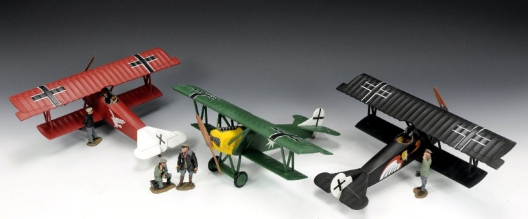 Toy Soldier Collector Taking off ... WWI Fokker D.V11s