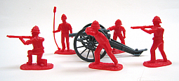 Toy Soldier Collector Armies in Plastic - Colonial Gatling Gun