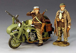 Toy Soldier Collector King & Country - WWII Motorcycle Combo & WWI Tank