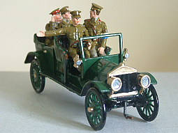 Toy Soldier Collector Yeomanry Miniatures - World at War Series - Staff Car & Personnel